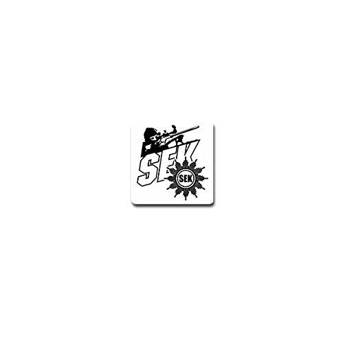 SEK Aufkleber Sticker Spezialeinsatzkommando Polizei Spezialeinheit 7x7cm#A4056