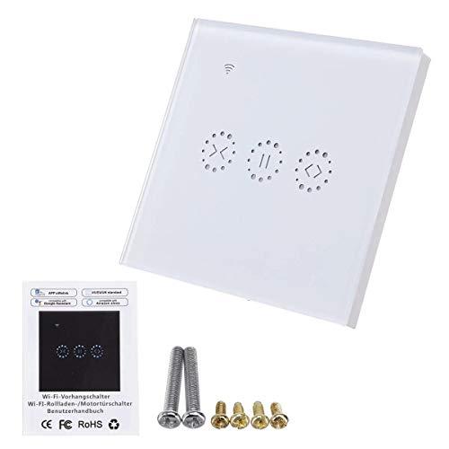 Persiana enrollable eléctrica Cortinas WiFi cortina de inactividad Car Accesorios WiFi Touch Panel de accesorios del coche interruptor de la puerta de control remoto táctil de pared - Blanco