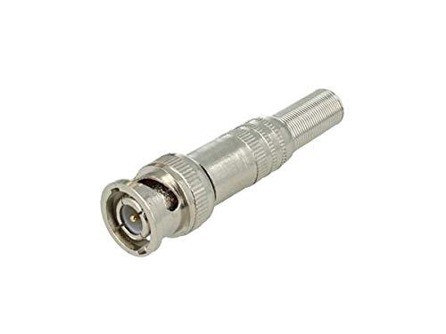 SekTek CM-04727 Conector BNC macho Q9 sin soldadura con muelle protector para...