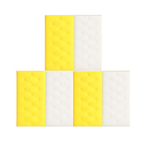 CUTICATE 6x 3D Wallpaper Wandpaneele Isoliermatte Für Heimbett 30x60x1.8cm 2 Farbig