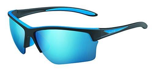 Bolleフラッシュサングラスマットブラック/ブルー、ブルー