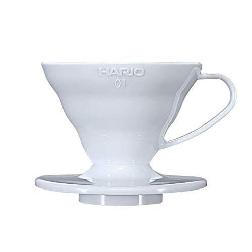 Hario V60 Plastic Coffee Dripper, Size 01, White