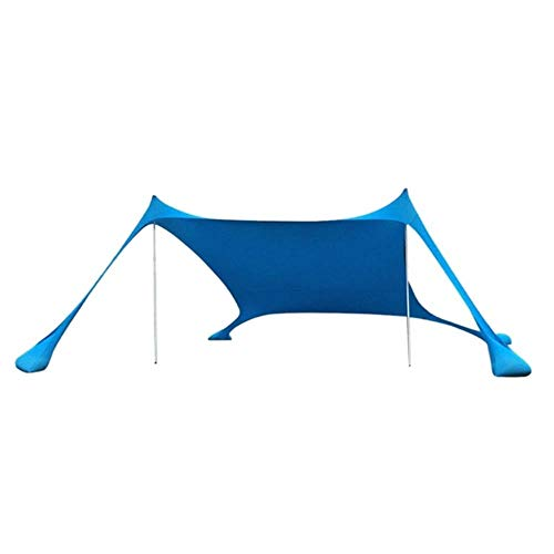 Linwei Portable Beach Tent with Sandbag Anchors Beach Sunshade UV Sun Shelter For Beach Parks Camping,Blue