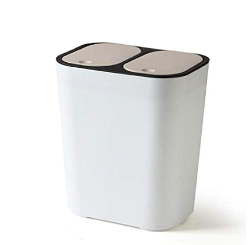 ZKCXIM Kitchen Trash can Recycling Bin Double lid Trash can Household Dry and Wet Separation Trash can Bathroom Trash can
