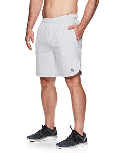 Reebok Men's Lightweight Workout Gym & Running Shorts w/Elastic Drawstring Waistband & Pockets - 9 Inch Inseam - Peak Training Microchip, Medium