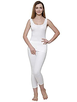 BODYCARE Off White Solid Women Thermal Lower