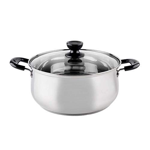 Heavy 16 Stainless steel composite bottom soup pot Right angle Non-stick pan Household Induction cooker Binaural stainless steel-High capacity -30.5cm KaiKai