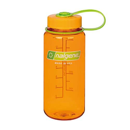 NALGENE ナルゲン 広口 0.5L TRITAN プラスチックボトル 水筒 MADE IN USA(91422 CLEMENTINE)ジャグキャップ登山 サイズ