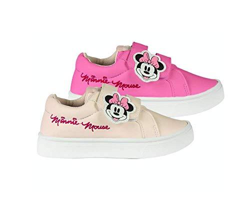 Disney Minnie Mouse Mädchen Schuhe Sneaker Sportschuhe! Perfekt für Schule, Draußen oder Legere, Kinder Sonnenlicht 3D Farbwechsel Design, Einfache Klettverschluss! EU 30