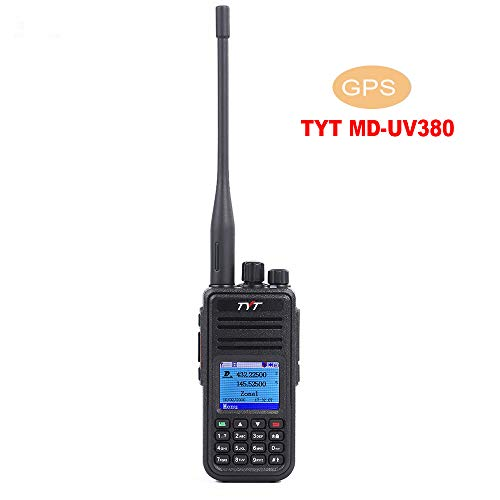Best Price TYT MD-UV380 Dual Band Portable Handheld Radio W/GPS DMR/MotoTRBO (TDMA Tier I and Tier I...