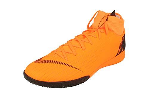 Nike SuperflyX 6 Academy IC Mens Football Boots AH7369 Soccer Cleats (UK 10.5 US 11.5 EU 45.5, Black Total Orange White 810)