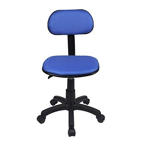 Sedie Esecutive Reclinabili in Altezza Regolabile, Sedia da Ufficio per Computer con Schienale Basso E Sedia da Ufficio con Rotelle Girevoli (Colore : Blu) Tdff