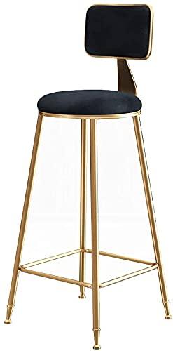 Wddwarmhome Muebles de decoración del hogar - Taburete de bar de diseño moderno con reposapiés | Silla de vestuario para el reposapiés de la silla altura | Silla de comedor lateral ergonómica Barra de