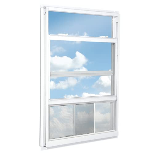 "RESPILON Adjustable Window Screen - Nanofiber Protection Against Fine Dust, Diesel Fumes, Anti-Allergy, Anti-smog, Anti-pollen, 11.91"" High, 21.65""-33"" Wide"