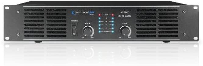 Technical Pro AX Amplifier Series AX2000 2000-Watt of peak power 2U Professional 2CH Channel Power Amplifier, Black