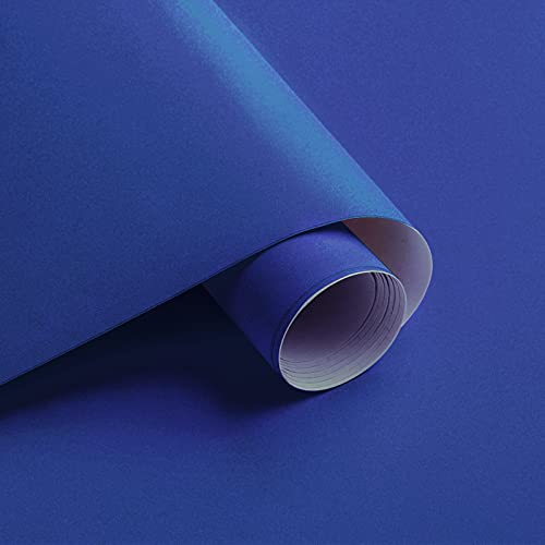 15.7'X118' Blue Peel and Stick Wallpaper Royal Blue Contact Paper Waterproof...