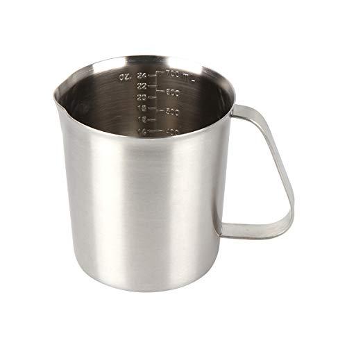 Kitchnexus Edelstahl Messbecher, Milchkännchen Messkanne für Küche Kaffee Latte Cappuccino- Milk Pitcher 700ml