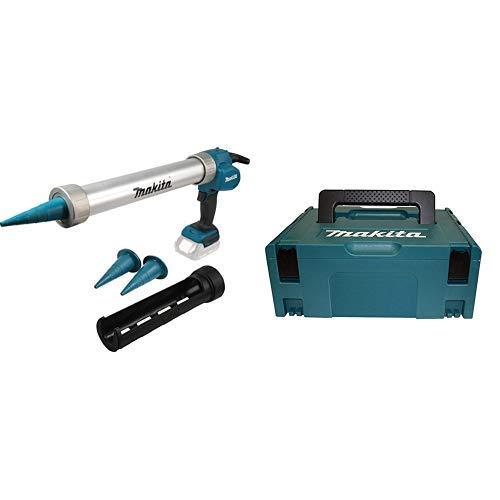 Makita Akku-Kartuschenpistole (18 V, ohne Akku, ohne Ladegerät) DCG180ZX + Makita Makpac Größe 2, 821550-0
