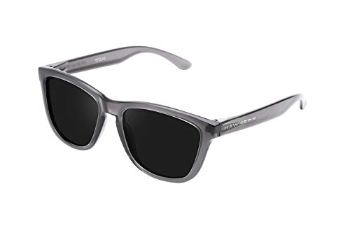 HAWKERS Unisex-Erwachsene CRYSTAL BLACK DARK ONE Sonnenbrille, Transparent/grau, Único