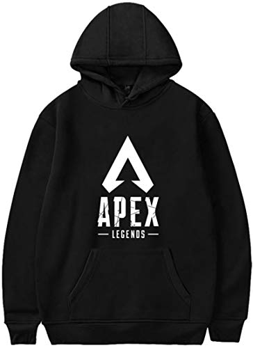 Pandolah メンズ 男女兼用 パ-カー プルオーバー ゲームロゴ APEX LEGENDS エーペックスレジェンズ 人気 キャラクター 長袖 (M、B-図案A)