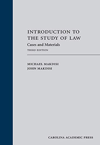 Download Introduction to the Study of Law: Cases and Materials 1422428737