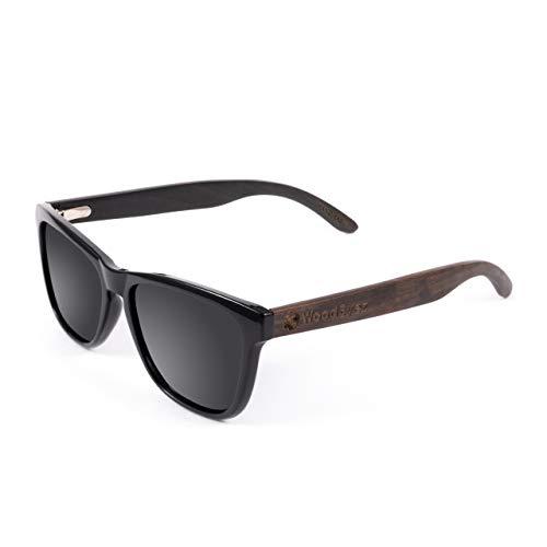 WoodEyez - Die Holz Sonnenbrille - mit Holzbügeln für Damen & Herren, Polarisierende Brillengläser mit UV 400 Schutz (Cat 3) für Apres Ski, Strand, Wassersport und Alltag