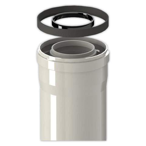 Tubo coaxial FIG diámetro 60/100 mm M/H L1000 |...