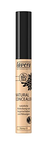 lavera Natural Concealer  ∙ Farbe Honey Hautfarbe ∙ Abdeckung von Schatten & Rötungen ∙ Natural & innovative Make up ✔ vegan ✔ Bio Pflanzenwirkstoffe ✔ Naturkosmetik ✔ Teint Kosmetik 1er Pack (1 x 7 ml)