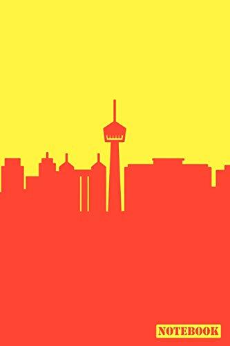 Notebook: San Antonio Texas Cityscape Diary Journal (Orange & Yellow)