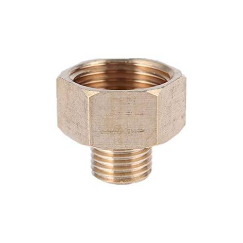 LJSF tubería Brass 1/8'1/4' 3/8'1/2' 3/4'Macho a Hembra Reductor roscado Reductor de tubería de Cobre Accesorio de Agua Adaptador de Gas Conector de acoplador Instalación Simple y Duradera