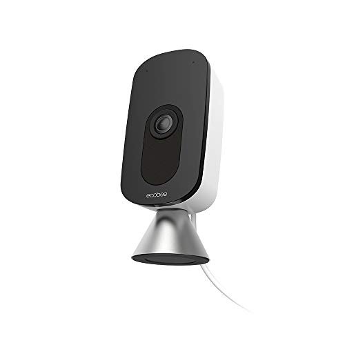 Ecobee SmartCamera – Indoor WiFi Security Camera, Baby & Pet Monitor, Smart Home Security System, 1080p HD 180 Degree FOV, Night Vision, 2-Way Audio, Works with Apple HomeKit, Alexa Built In