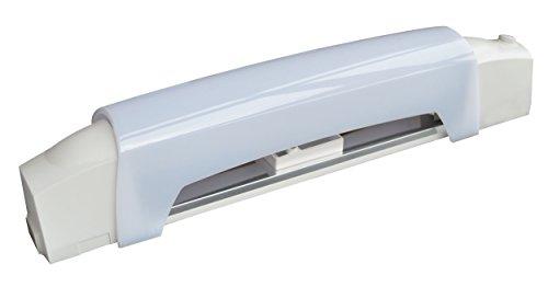 Tibelec 311830 Applique salle de bain blanche avec tube led + interrupteur et diffuseur, Plastique, 6 W, Blanc, Prise