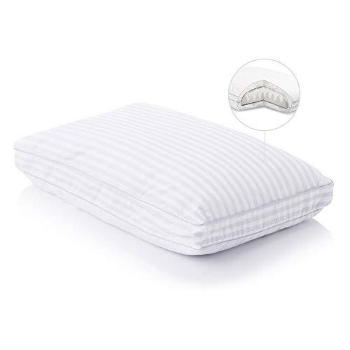 Malouf Convolution Gelled Microfiber with Convoluted Memory Foam Pillow - Down Alternative - Queen