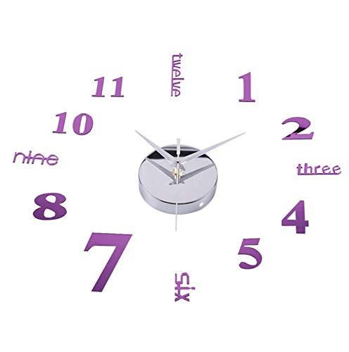 Djkaa Groot model, modern design, 3D wandklok, knutselen, horloges, geschenk voor aan de muur (27 inch)