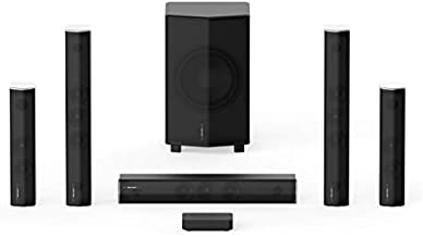 Enclave CineHome PRO 5.1 HD Wireless Home Theater Surround Sound System for TV - THX, 24 Bit Dolby Digital, DTS, and WiSA Certified - CineHub Bundle Edition - Plug and Play Home Theater