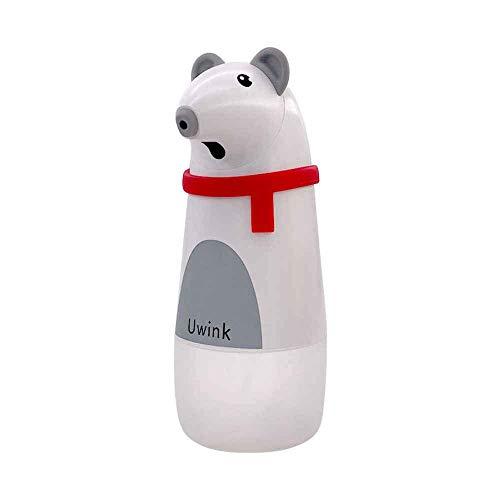 JSMY Dispensador de jabón de Sensor automático con Carga USB,dispensador de jabón de Espuma sin Contacto para baño/hogares/Lugares públicos Oso Polar