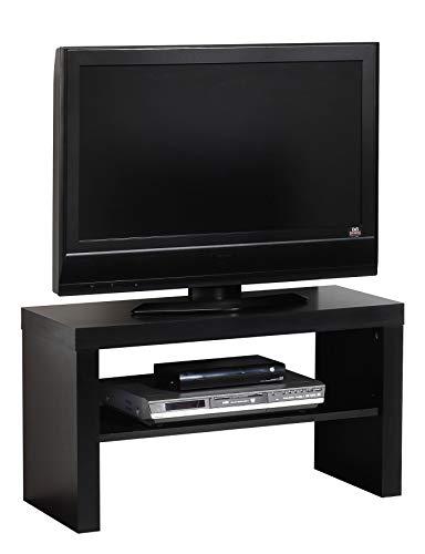 Miroytengo Mueble TV Salon TREC modulo bajo Multimedia Estilo Moderno Color Negro Comedor melamina 40x80x40 cm