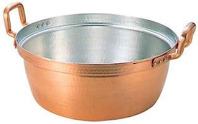丸新銅器 段付鍋両手 純銅 36cm
