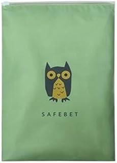 Zekaer Plastic Travel Waterproof Clothes Socks Cosmetics Storage Bag (Green)