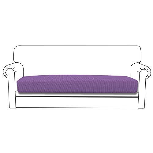 Funda de cojín elástica Easy-Going para sofá o sofá, funda protectora para sofá y sofá, suave flexibilidad con parte inferior elástica (cojín de gran tamaño, morado)