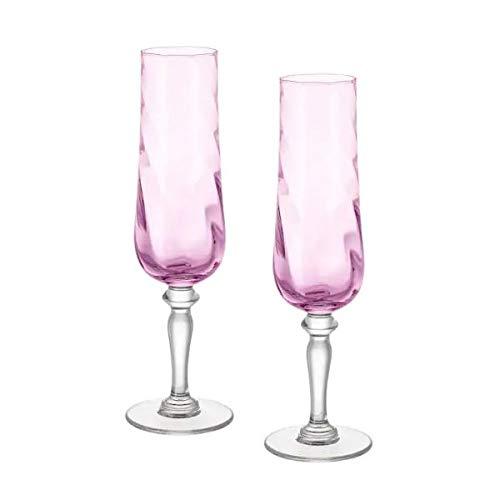 IKEA KONUNGSLIG Sektgläser in rosa; (26cl); 2 Stück