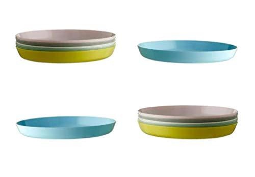 IKEA 804.613.80 Kalas - Platos de plástico (12 unidades, 19 x 2 cm), multicolor
