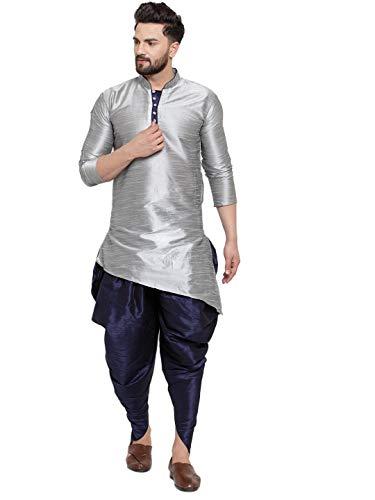ABH LIFESTYLE Men's Dupion Silk Dhoti Kurta Set.