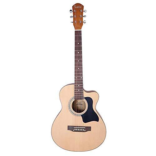 Guitarra acústica, de 38 Pulgadas Spruce Front-Cut Guitarra acústica, sándalo Rojo Volver, Sonido Claro de Calidad, clásico Cuerpo, Bolso de la Correa, Guardia, Llave, Madera Color
