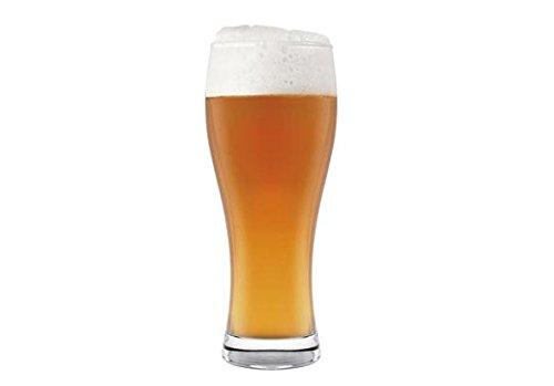 H&H H&H 68/4261 - Juego de 6 Vasos de Cristal para Cerveza Weizen, 330 cl, 6 Unidades