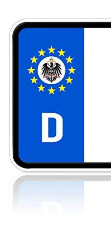 Ritter Mediendesign Aufkleber Deutsches Kaiserreich Fahne für Nummernschild Kennzeichen Waschstrassenfest UV-Beständig
