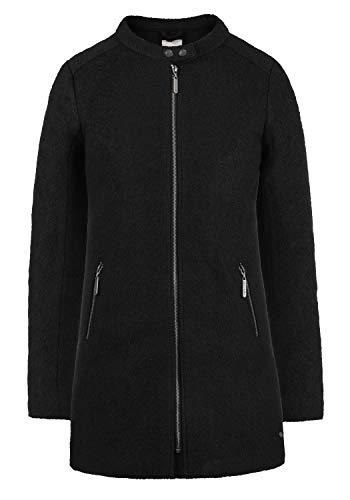 Blend SHE Wilma Damen Winter Jacke Wollmantel Winterjacke gefüttert mit Stehkragen, Größe:XS, Farbe:Black (20100)