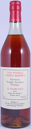 Van Winkle Family Reserve 12 Years Kentucky Straight Bourbon Whiskey 45,2% aus Pappy Van Winkles Private Stock - seltene alte Stitzel Weller Abfüllung aus Lawrenceburg