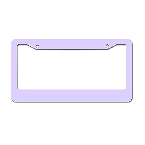 Mesllings Lavender Plate Frame, License Tag Holder 12' X 6' Fits Any Car, Truck, SUV, RV, or Trailer | Made in The USA, Cover