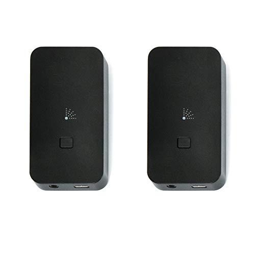 Nubert nuConnect TRX Funkadapter Set | Sender/Empfänger für Subwoofer und Aktivlautsprecher | Transceiver für Nubert Geräte mit X-Connect | Ersetzt Cinch-Kabel mit High Res Funk | Schwarz | 2 Stück